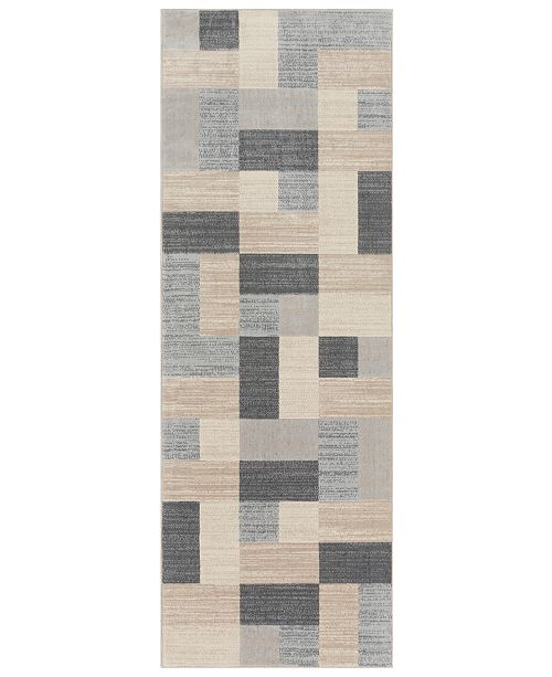 "Surya City CIT-2344 Light Gray 2'7"" x 7'3"" Runner Area Rug"