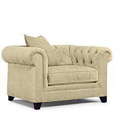 "Martha Stewart Collection Saybridge 52"" Fabric Living Room Armchair - Custom Colors, Created for Macy's"