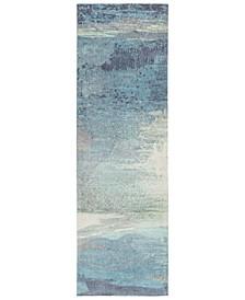 """Felicity FCT-8000 Sky Blue 2'6"""" x 8' Runner Area Rug"""