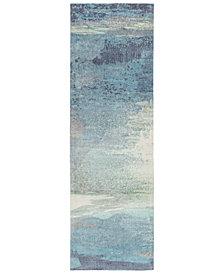 "Surya Felicity FCT-8000 Sky Blue 2'6"" x 8' Runner Area Rug"