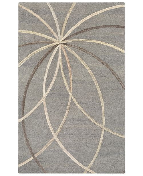 Surya Forum FM-7217 Medium Gray 5' x 8' Area Rug
