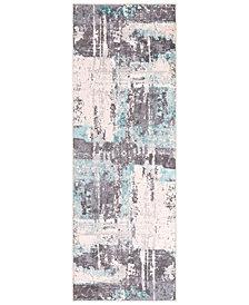 """Surya Genesis GNS-2301 White 2'7"""" x 7'6"""" Runner Area Rug"""
