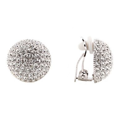 Nina Swarovski Pave Dome Clip On Earrings Women Macy S