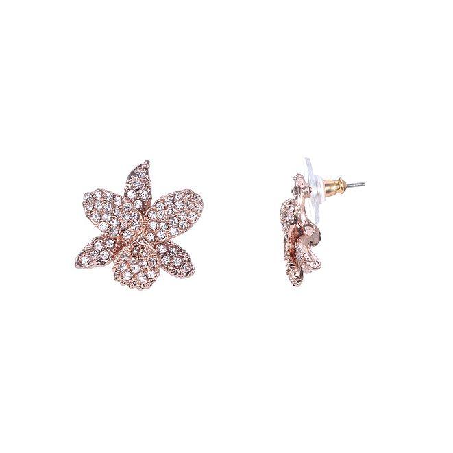 Nina Swarovski Pave Small Orchid Earring