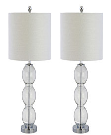 Bella Glass Triple-Sphere Led Table Lamp, Set of 2