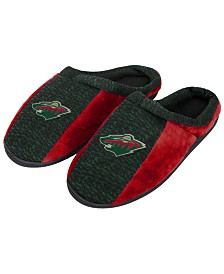 Forever Collectibles Minnesota Wild Knit Cup Sole Slippers