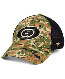 Authentic NHL Headwear Carolina Hurricanes Military Appreciation Speed Flex Stretched Fitted Cap