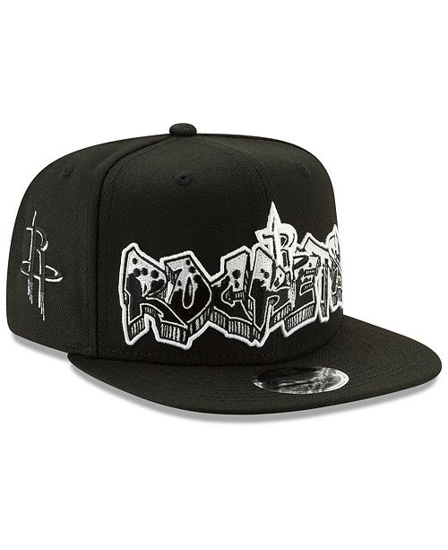 the best attitude 1648d 32a8c ... New Era Houston Rockets Retroword Black White 9FIFTY Snapback Cap ...