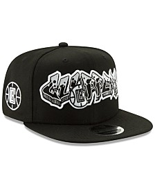 New Era Los Angeles Clippers Retroword Black White 9FIFTY Snapback Cap