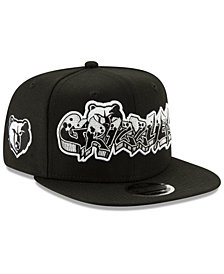 New Era Memphis Grizzlies Retroword Black White 9FIFTY Snapback Cap