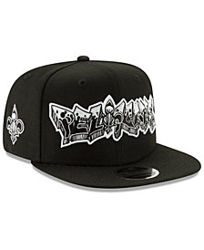 New Era New Orleans Pelicans Retroword Black White 9FIFTY Snapback Cap