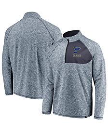 Authentic NHL Apparel Men's St. Louis Blues Static Quarter-Zip Pullover