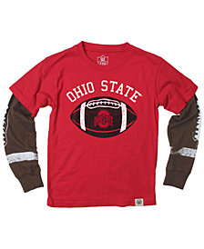 Wes & Willy Ohio State Buckeyes Football Sleeve 2-In-1 T-Shirt, Infants (12-24 Months)