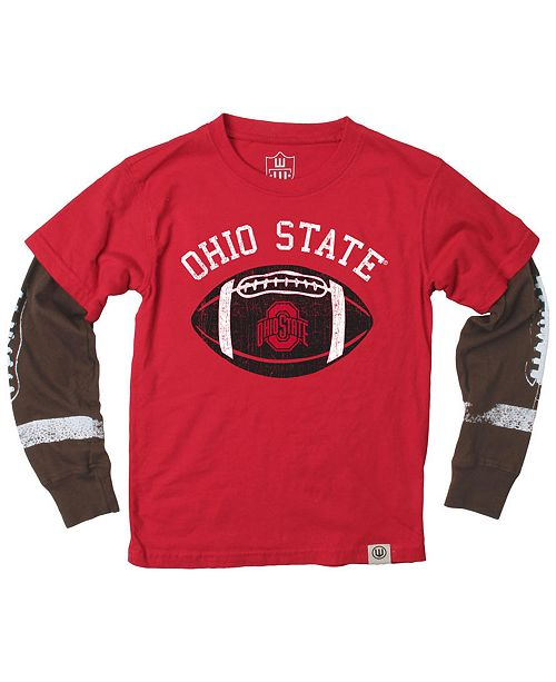 dfe26b01e Wes & Willy Ohio State Buckeyes Football Sleeve 2-In-1 T-Shirt ...