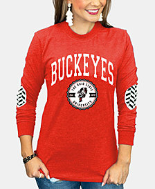 Gameday Couture Women's Ohio State Buckeyes Elbow Patch Long Sleeve T-Shirt