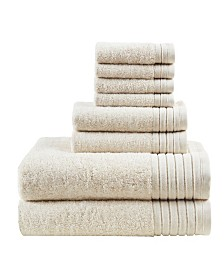 Madison Park Signature Mirage Solid 100% Cotton 8-Pc. Towel Set