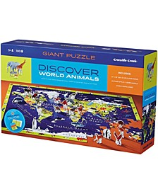 Discover the World Puzzle + Play Floor Puzzle- 100 Pieces