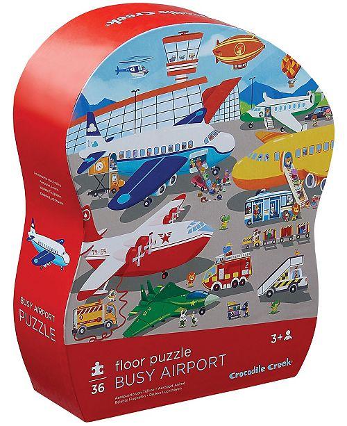 Crocodile Creek Busy Airport Floor Puzzle- 36 Piece