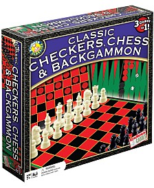 Classic Checkers, Chess and Backgammon