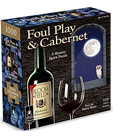 Foul Play and Cabernet Classic Mystery Jigsaw Puzzle- 1000 Pieces