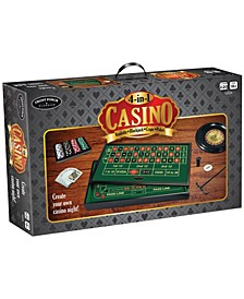 4-in-1 Casino- Roulette, Blackjack, Craps, Poker