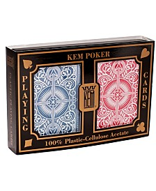 KEM Playing Cards - Arrow Red and Blue- Wide