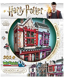 Harry Potter Daigon Alley Collection - Quality Quidditch Supplies and Slugs and Jiggers 3D Puzzle- 305 Pieces