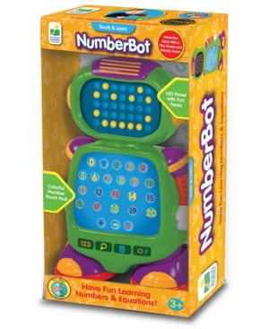 Touch and Learn Mathematics NumberBot - Interactive Robot Toy with Led Face and Three Quiz Game Modes