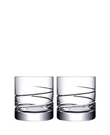 Orrefors Swerve Double Old Fashioned Pair