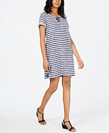 Lace-Up T-Shirt Dress, Created for Macy's