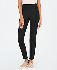 Curvy Seamed Ponté-Knit Leggings, Created for Macy's