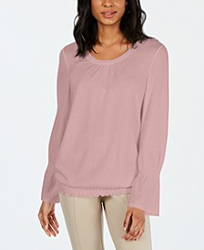 Smocked-Hem Top, Created for Macy's