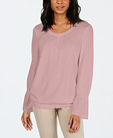 Style & Co Smocked-Hem Top, Created for Macy's