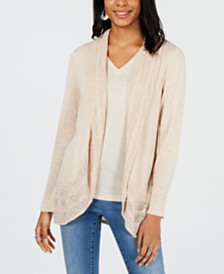 Style & Co Pointelle-Trim Cardigan, Created for Macy's