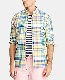 Polo Ralph Lauren Men's Classic Fit Plaid Cotton Oxford Shirt