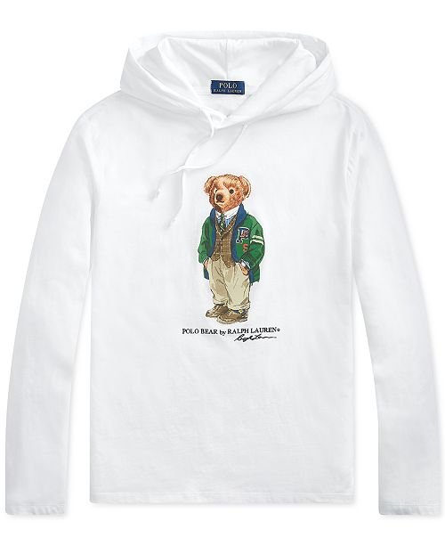 5141c5d8 Polo Ralph Lauren Men's Big & Tall Polo Bear Hooded Long-Sleeve T-Shirt ...