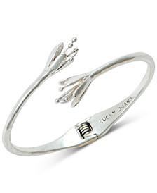 Silver-Tone Tulip Cuff Bracelet