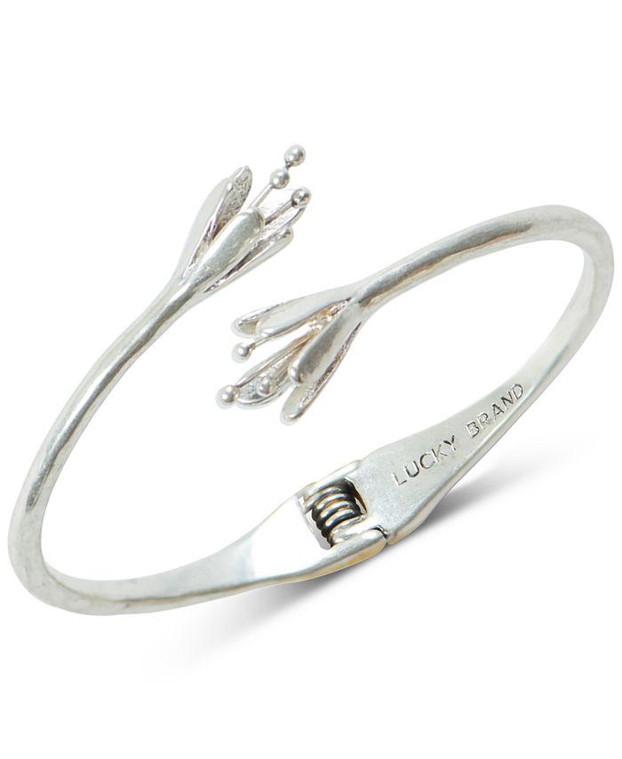 Lucky Brand - Silver-Tone Tulip Cuff Bracelet
