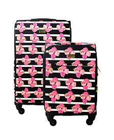 Macbeth Collection 2-Piece Petunia Softside Luggage Set
