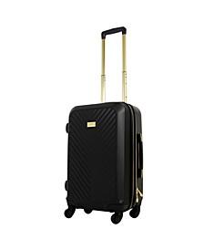 "Macbeth Collection 25"" Black Molded Quilt Hardside Spinner Suitcase"