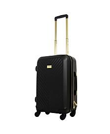 "FUL Macbeth Collection 25"" Black Molded Quilt Hardside Spinner Suitcase"