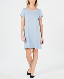 Petite Cotton Seam-Detail Dress, Created for Macy's