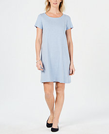 Karen Scott Cotton Seam-Front Dress, Created for Macy's
