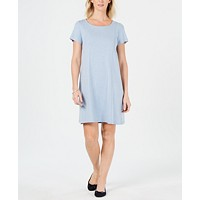 Deals on Karen Scott Cotton Seam-Front Dress