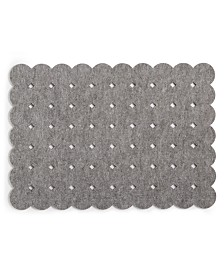 The Cellar Felt Grid Dot Gray Placemat, Created for Macy's