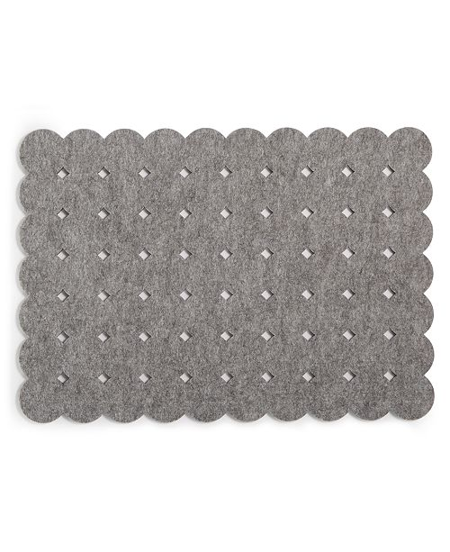 The Cellar CLOSEOUT! Felt Grid Dot Gray Placemat, Created for Macy's