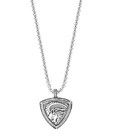 "EFFY® Men's Zodiac 22"" Pendant Necklace in Sterling Silver"