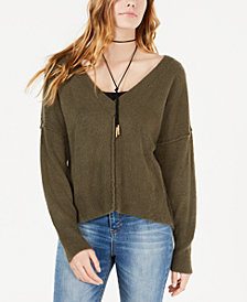 American Rag Juniors' Raw-Seamed Sweater, Created for Macy's