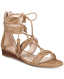 COACH Via Demi Wedge Sandals