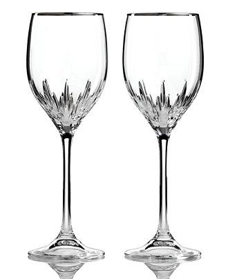 Vera wang wedgwood set of 2 duchesse platinum wine glasses shop all glassware stemware - Vera wang duchesse wine glasses ...